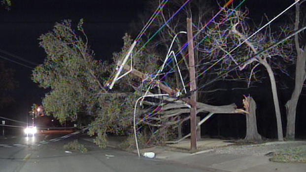 High Winds Bring Down Power Lines in Westhollow